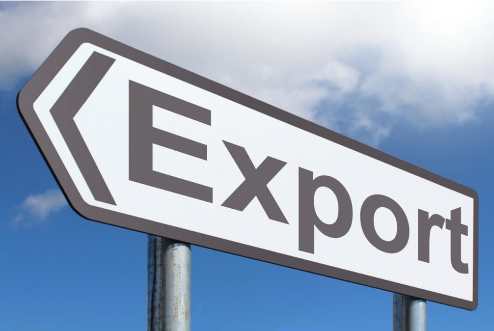 "Road sign reading ""Export"""