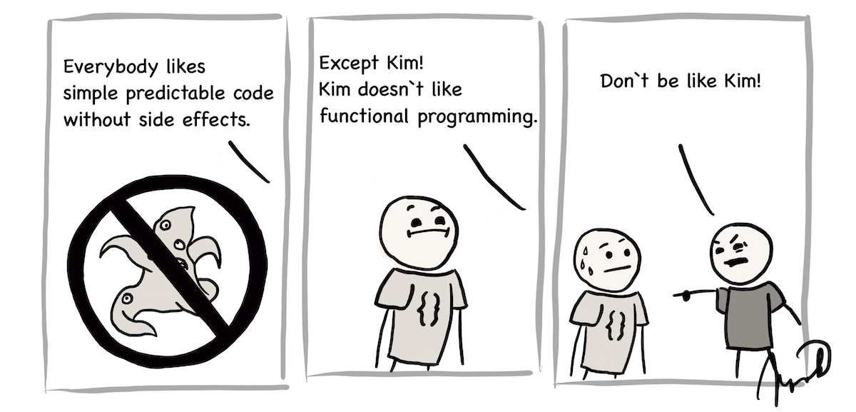 Cartoon about functional programming